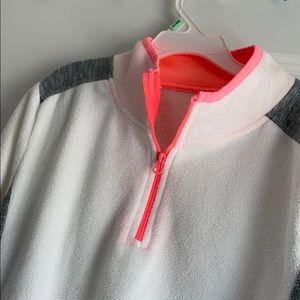 quarter zip fleece sweatshirt